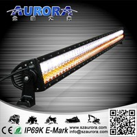 Aurora LED 50inch two color led bar light with CE RoHS IP69K 4wd spotlight