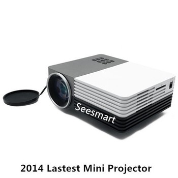 Outdoor video projector gm50 mini pico projector 150 lumens home theater hdmi mini projector for Exterior 400 image projector price