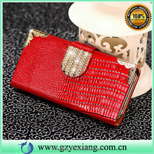 Crocodile Leather Diamond Bliing Phone Case For iPhone 5 Cover Wallet