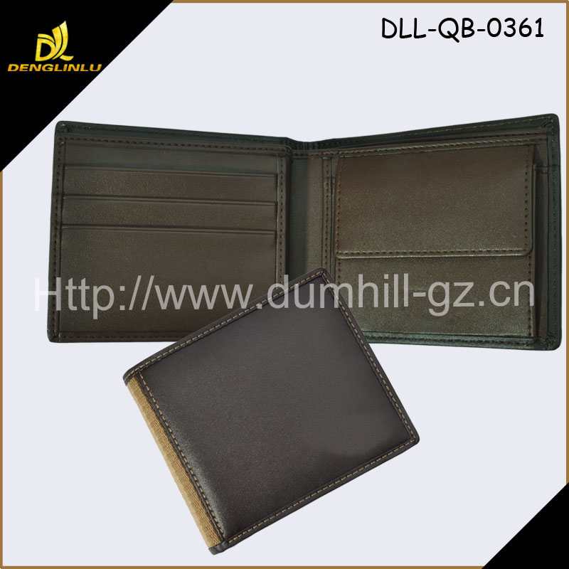 2016 Brand Manufacturer Men Leather Wallet With Coin Pocket