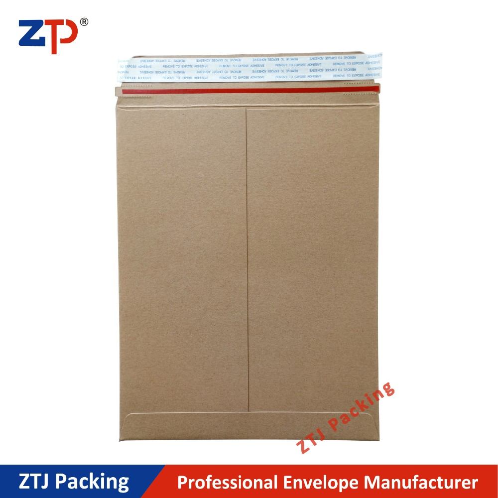 Permanent adhesive packaging envelopes peal and seal envelope mailer