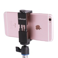Hot Sell Ulanzi IRON MAN Aluminum Metal Universal Mobile Smart Phone Mini Tripod Holder Mount Adapter for IOS iPhone Android