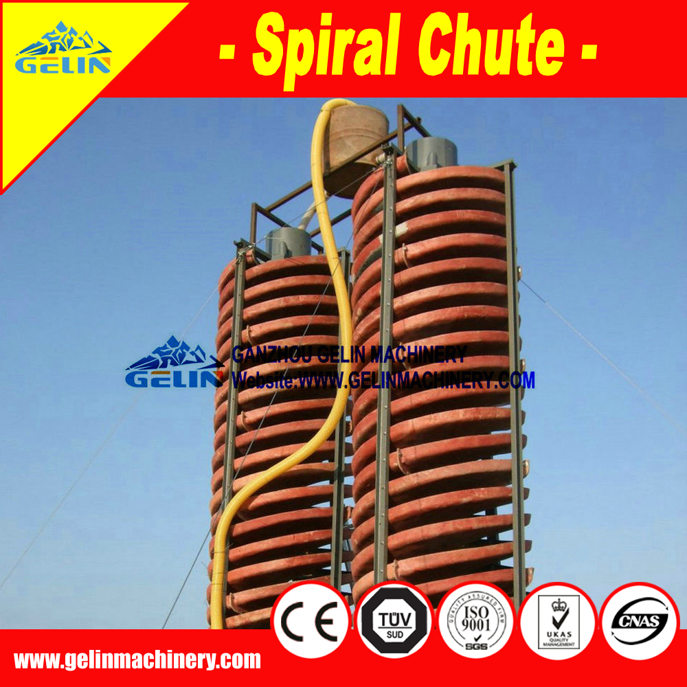 Jiangxi GELIN Spiral Concentrator Spiral Chute for Recovery ilmenite Machine