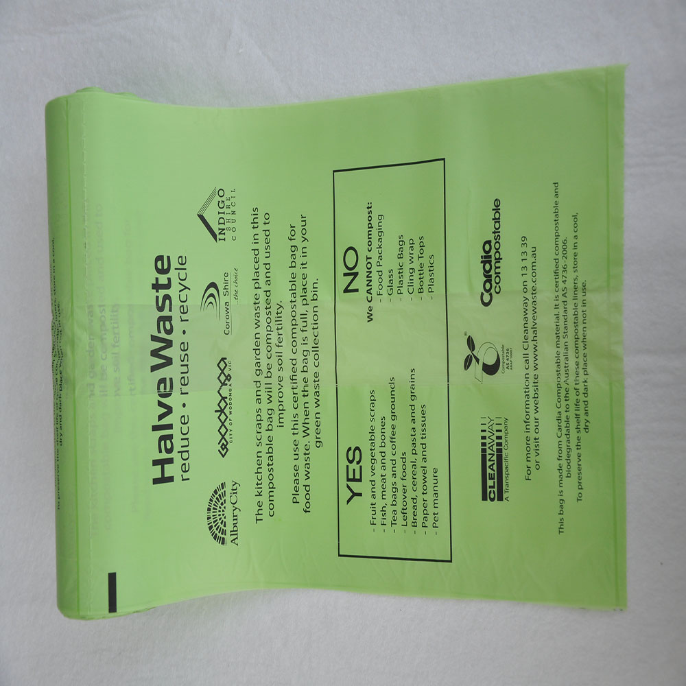New Customized corn starch based biodegradable plastic food waste bags