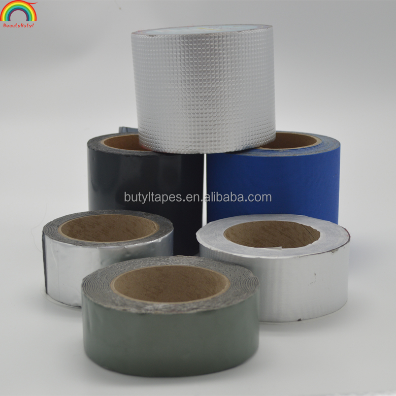 Factory offer cheap aluminum faced butyl rubber tape