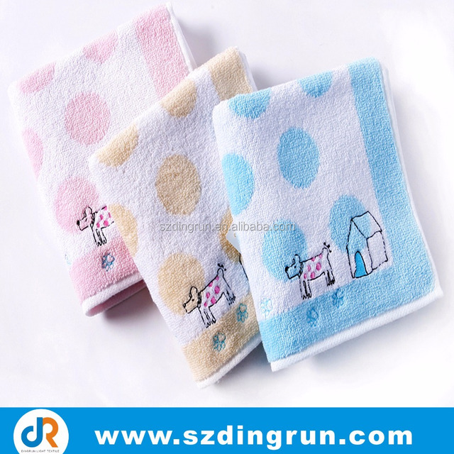 exellent water absorption baby wash cloth set for washing face