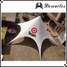 White star shaped tents/printed trade show canopy for sale