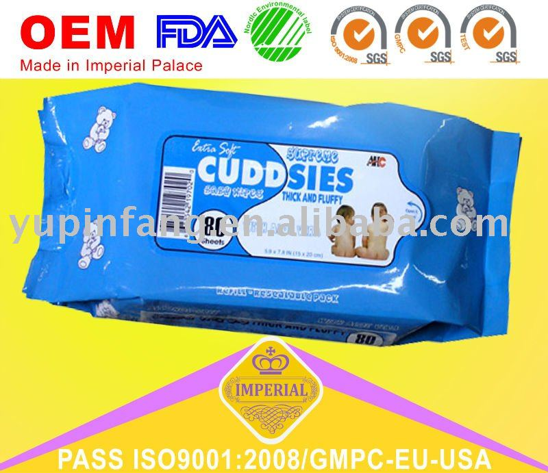 Disposable Baby Wipes for diaper use