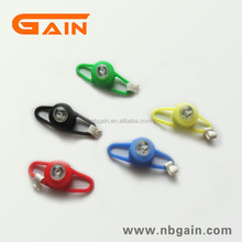 Led handlebar with silicone cover and high transparent lamp bicycle rear light