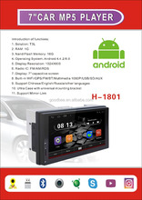 2 Din hot selling Universal car GPS with Android system 6.0.1(H-1801)