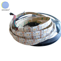 Addressable smart SK6812 RGBW pixel LED strip 72LEDs/m 72pixels/m 5V input , waterproof IP30/65/67 ,White/Black PCB