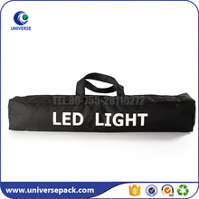 Black Custom Logo Oxford Packing Bag With Zipper For Led Light