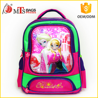 "2016 new design fashion high quality cartoon picture kids backpack 5D Printing 15"" wholesale children school bag"