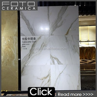 Porcelain calacatta marble tile designs, Polished white marble porcelain tile