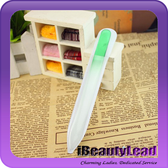 professional durable crystal glass nail file nail emery board