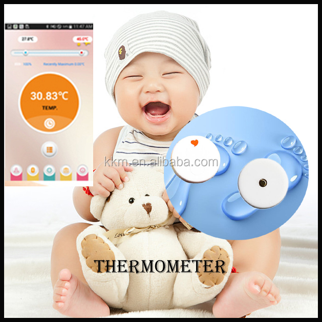 White Bluetooth Thermometer Low Energy Bluetooth 4.0 to Monitor Baby's Temperature Compatible With Android And App For Phone
