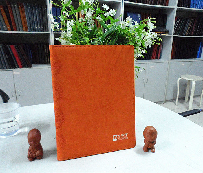 2013 new fashion custom leather agenda