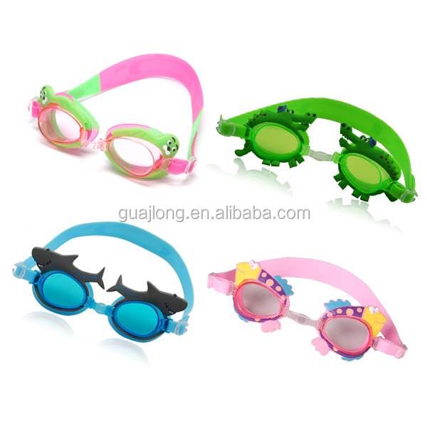 Watersport kids cartoon funny silicone swimming goggles