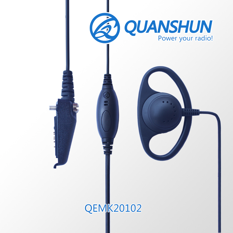 telecommunication system vhf radio device ear hook noise cancelling wired headset QEMK20102