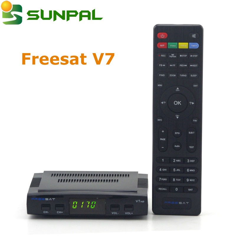 High Quality Freesat V7 hd satellite receiver software download hd mpeg4/full hd digital satellite receiver biss key