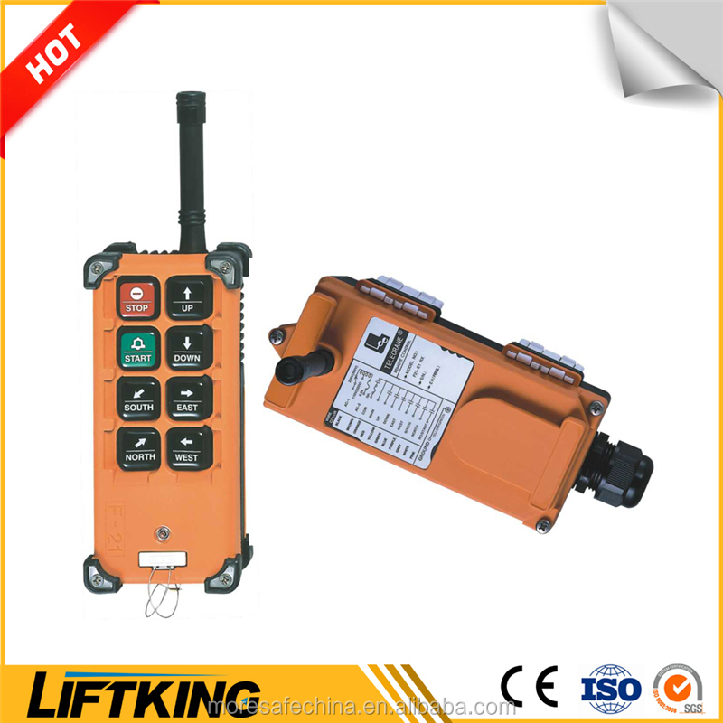 F21-4D , F21-6D , F21-8D radio remote control for hoist and crane