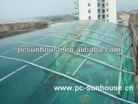 plastic transparent sun roof for house