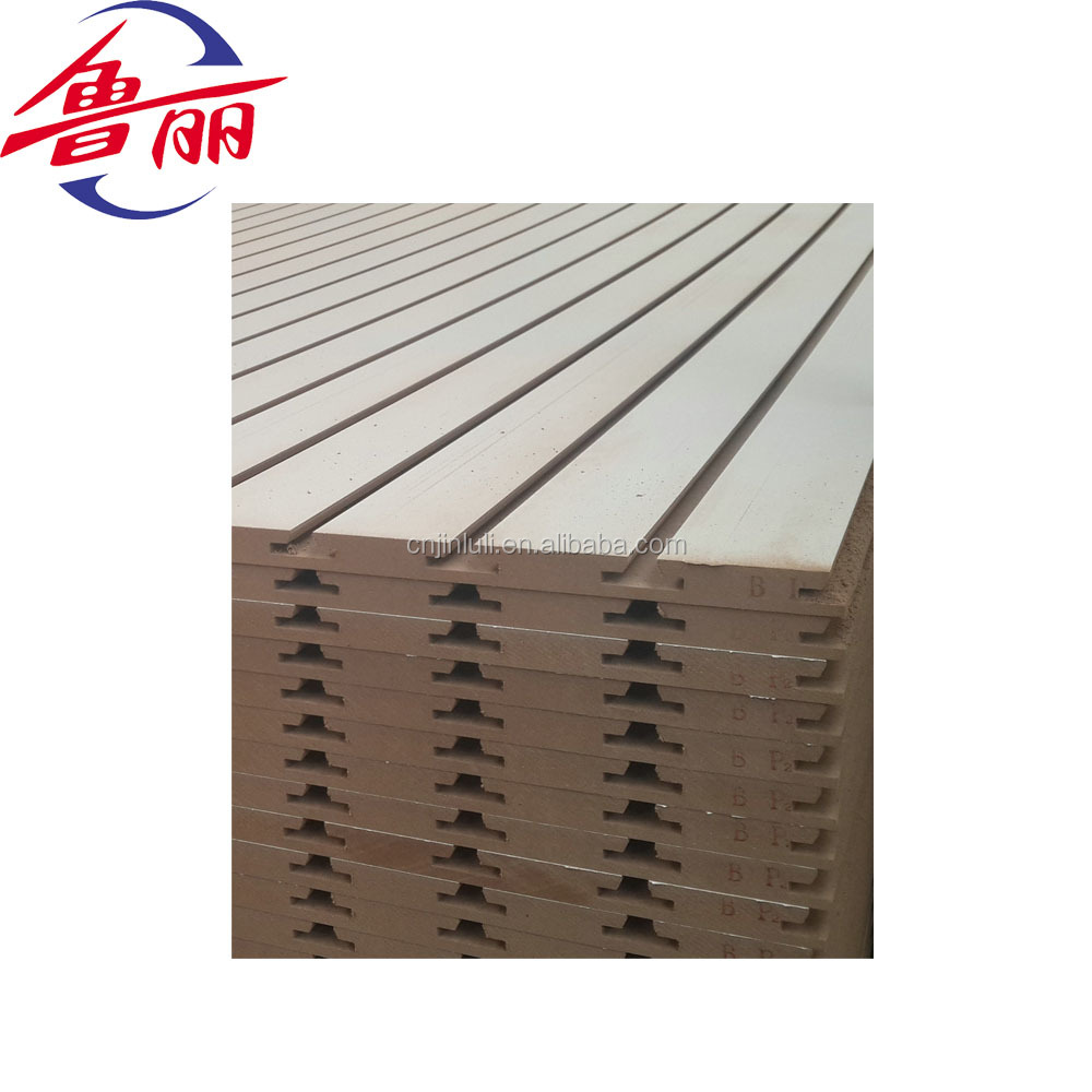 melamine faced slotted mdf board panels for diaply