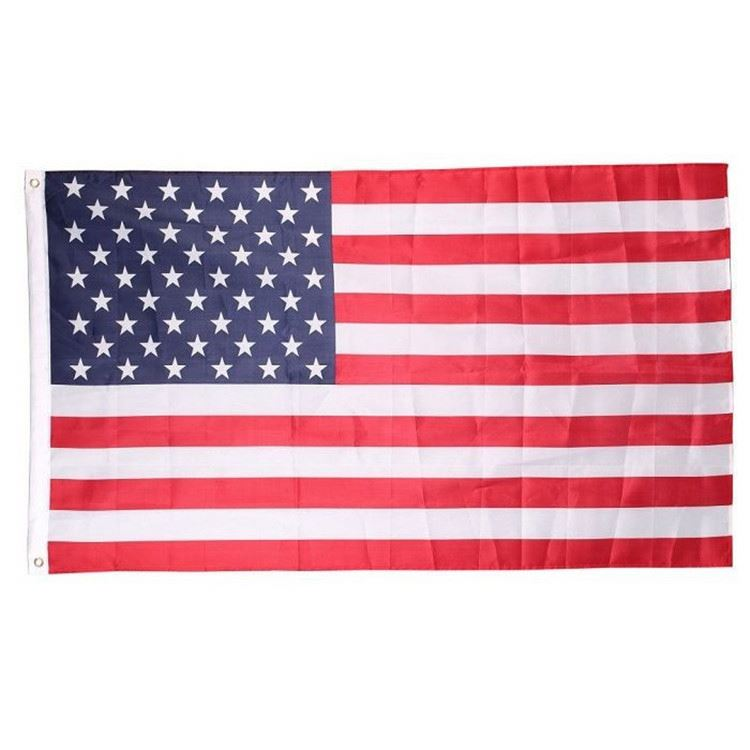Factory sale china manufacturer OEM cheap 3X5 feet high quality starts100 polyester american flag usa embroidered
