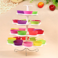 4 Tier 26 Stand Round Cake Cupcake Stands Disassemble For Wedding Birthday Party Cake Shop Display GI678163