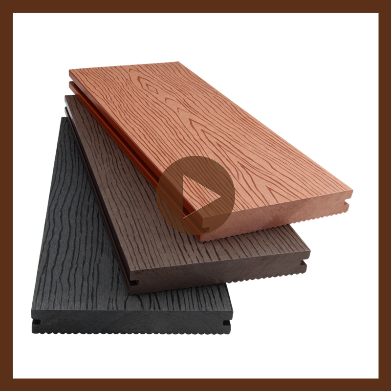 Anti slip outdoor wpc decking wood plastic composite for Garden decking non slip