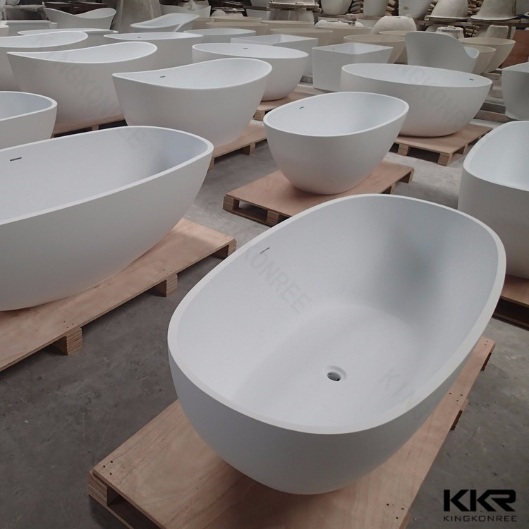 Cheap resin bathtub price KKR artificial stone freestanding bathtub