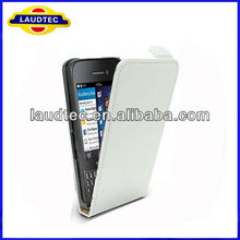 Genuine Real Slim Leather Flip Case for Blackberry Q5,Flip leather case cover for Blackberry Q5--Laudtec