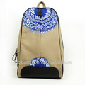 2014 chinese style blue and white porcelain hand printed canvas backpack
