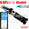 0-80% w/ ATC W/W Portable Refractometer for Liquor Alcohol Content Tester