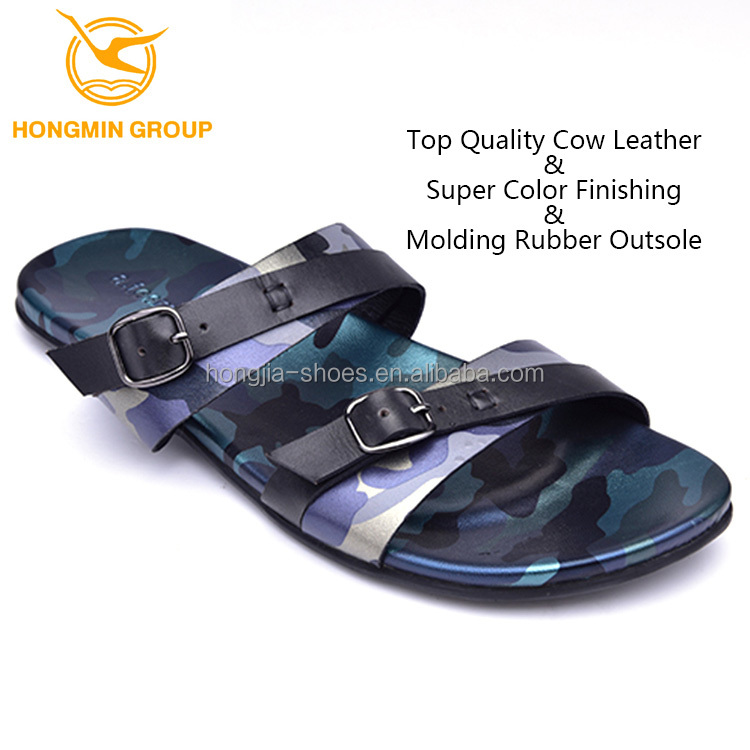 customize branded wholesale rubber out sole mens leather summer shoes 2016 new model beach slippers and sandals for men