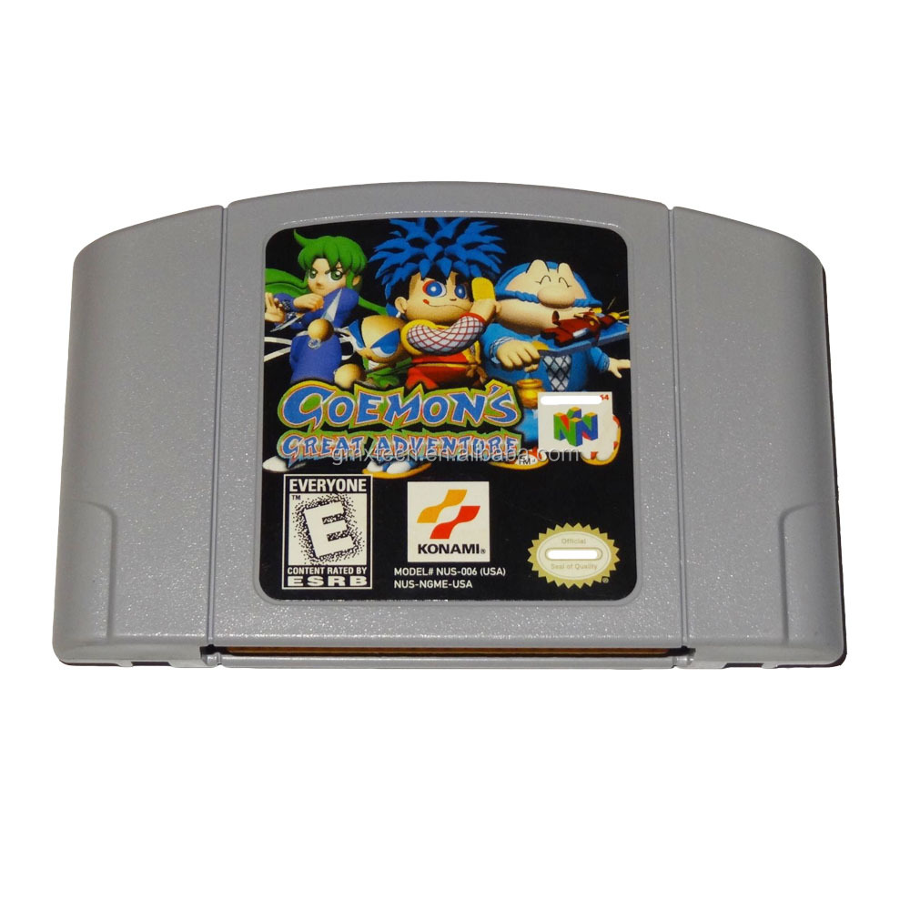 English version Goemons Great Adventure game cartridge for N64