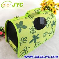 J201 good quality leather pet carrier