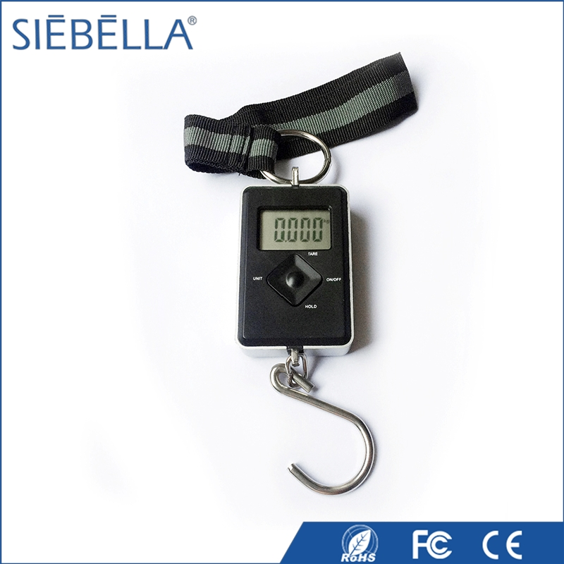 ABS mini weighing scale gift travel hang scaleLCD digital luggage scale with strong belt and hook