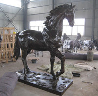 Cheap life size bronze garden horse statue for sale