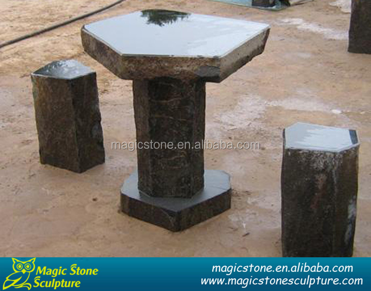 polygonal natural basalt tables outdoor decor