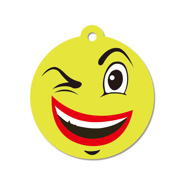 Eco-friendly low quantity accepted face emoticons paper car air freshener
