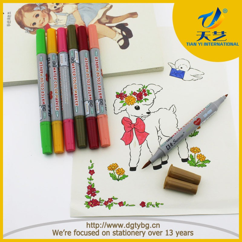 Dual tips water color based promotional art marker