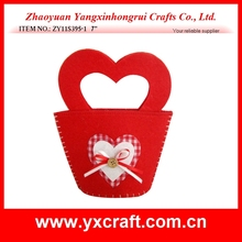 Valentine decoration (ZY11S395-1 7'') custom valentine handbag, valentine decoration bag, valentine felt decoration