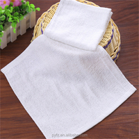 cheap 100% cotton white 30cmx30cm face towel size