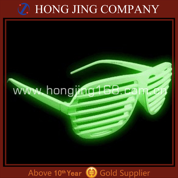 Glow in dark shutter shades sunglasses,party style shutter shades sunglasses