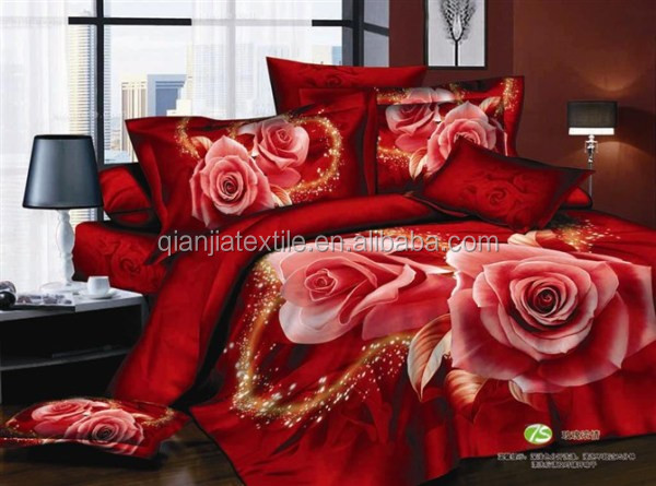 Bed sheet manufacturer wholesale full size 3D polyester bed sheet set