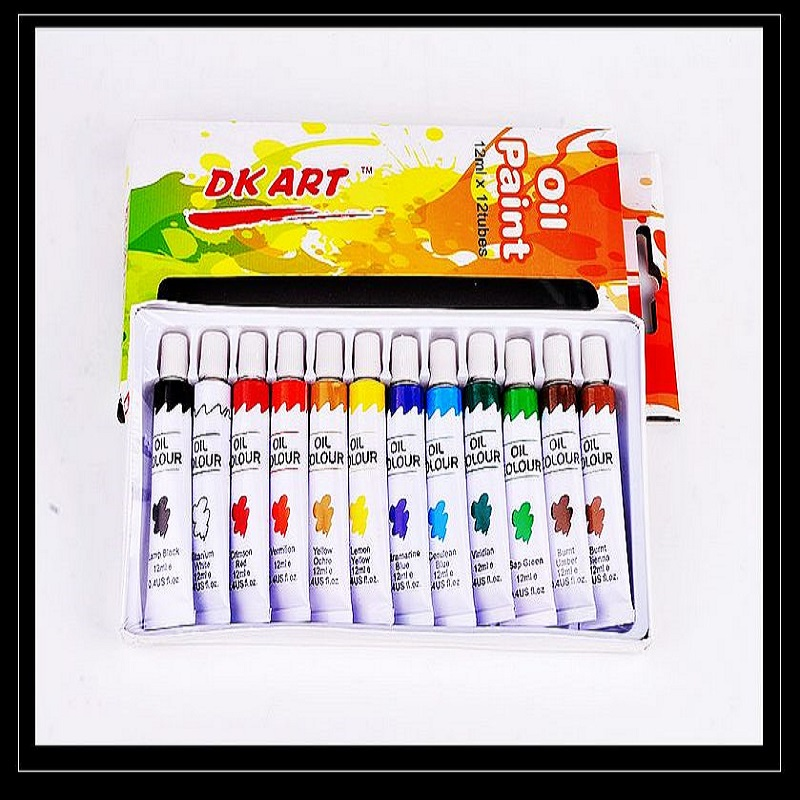 Art supply professional 12 tubes oil paint set Professional 12 tubes oil colour painting set non toxic oil paint