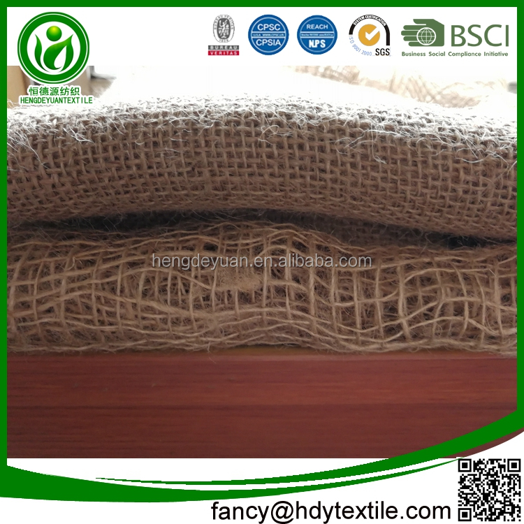 Direct factory quality Multi-purpose Plain Knitted pure natural colorful print jute fabric