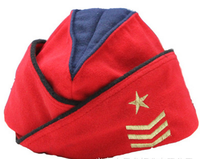 russian army ladies female red military beret with embroidery logo