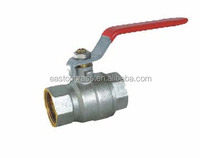 forged 2 Pcs Nickel-Plate Double Thread Straight 3 inch Brass Ball Valve